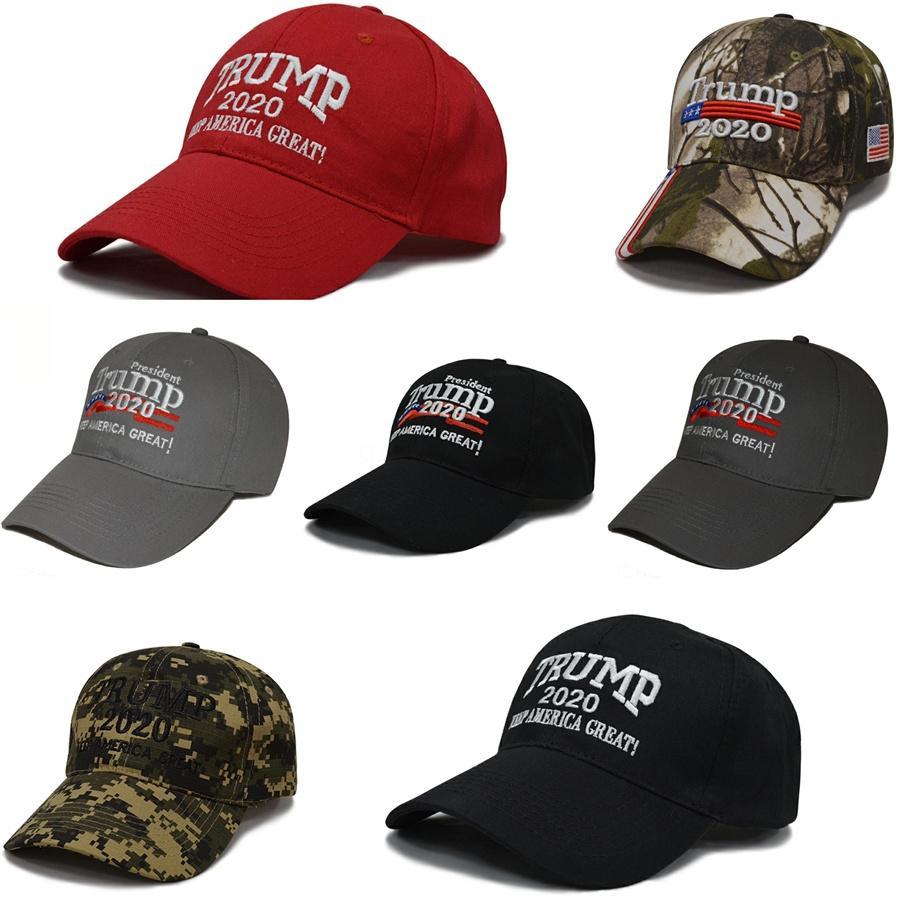 Caliente Donald Trump 2020 Sombrero de béisbol Keep America Gran Caps bordado Carta de labios de la bandera del casquillo del Snapback de moda sombreros de los deportes para las mujeres Señora # 829