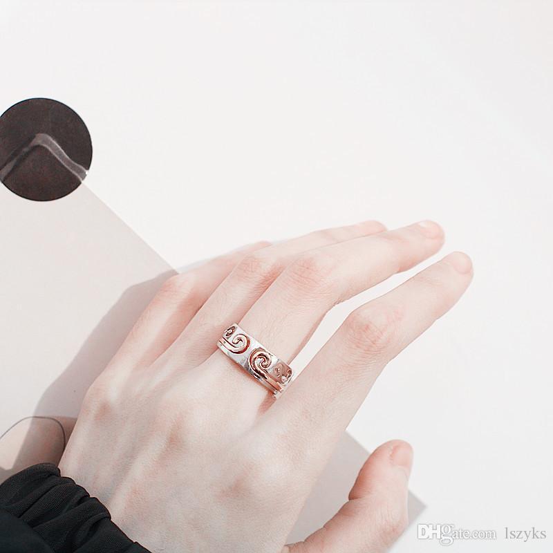 10pcs / lot un odyssée chinois cerceaux bague le souverain souverain trésor évider couples knuckles anneaux deux-en-un bijoux de mode