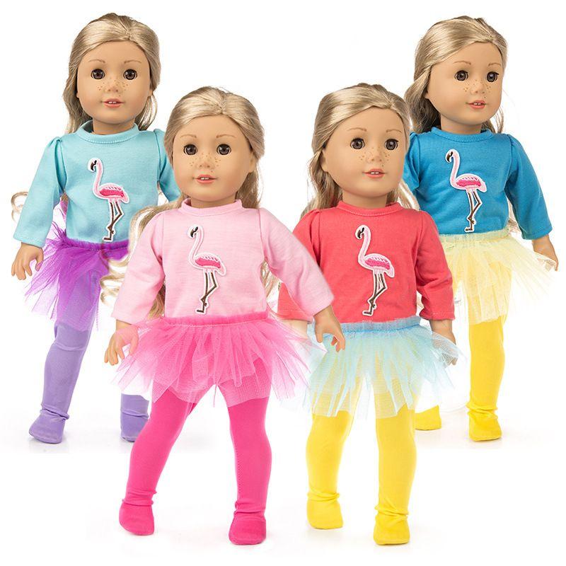 Baby Born Ostrich Yarn Skirt Fit 18 inch 43cm American Girl Doll Clothes For Chirdern Reborn Baby Doll Accessories Birthday Gift