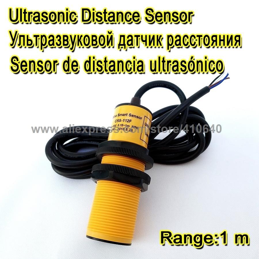 Ultrasonik Dönüştürücü Taş Ve Kum Hazne Seviyesini Kontrol Etmek 1 M Aralığı NPN Çıkışı 12/24 VDC Güç Kaynağı Özelleştirebilirsiniz