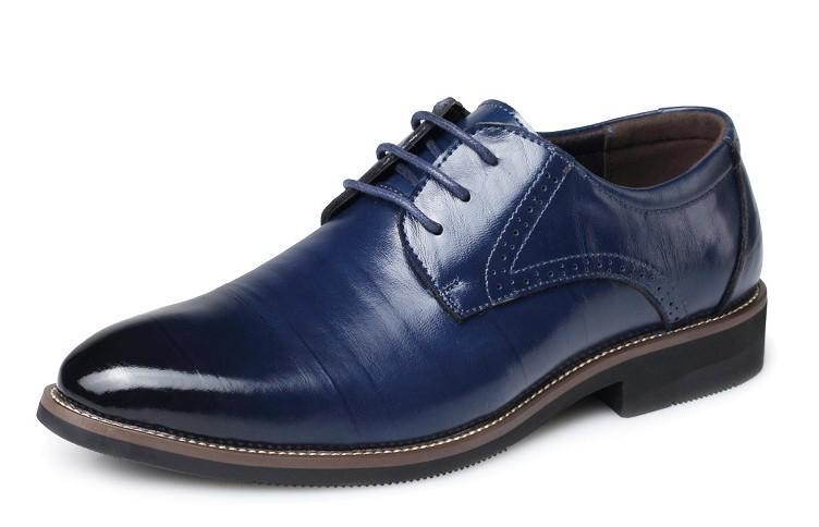 Venda de couro Hot sapatos masculinos vestido boi apartamentos lazer moda homens sapatos retro sapato escritório para o homem zy837