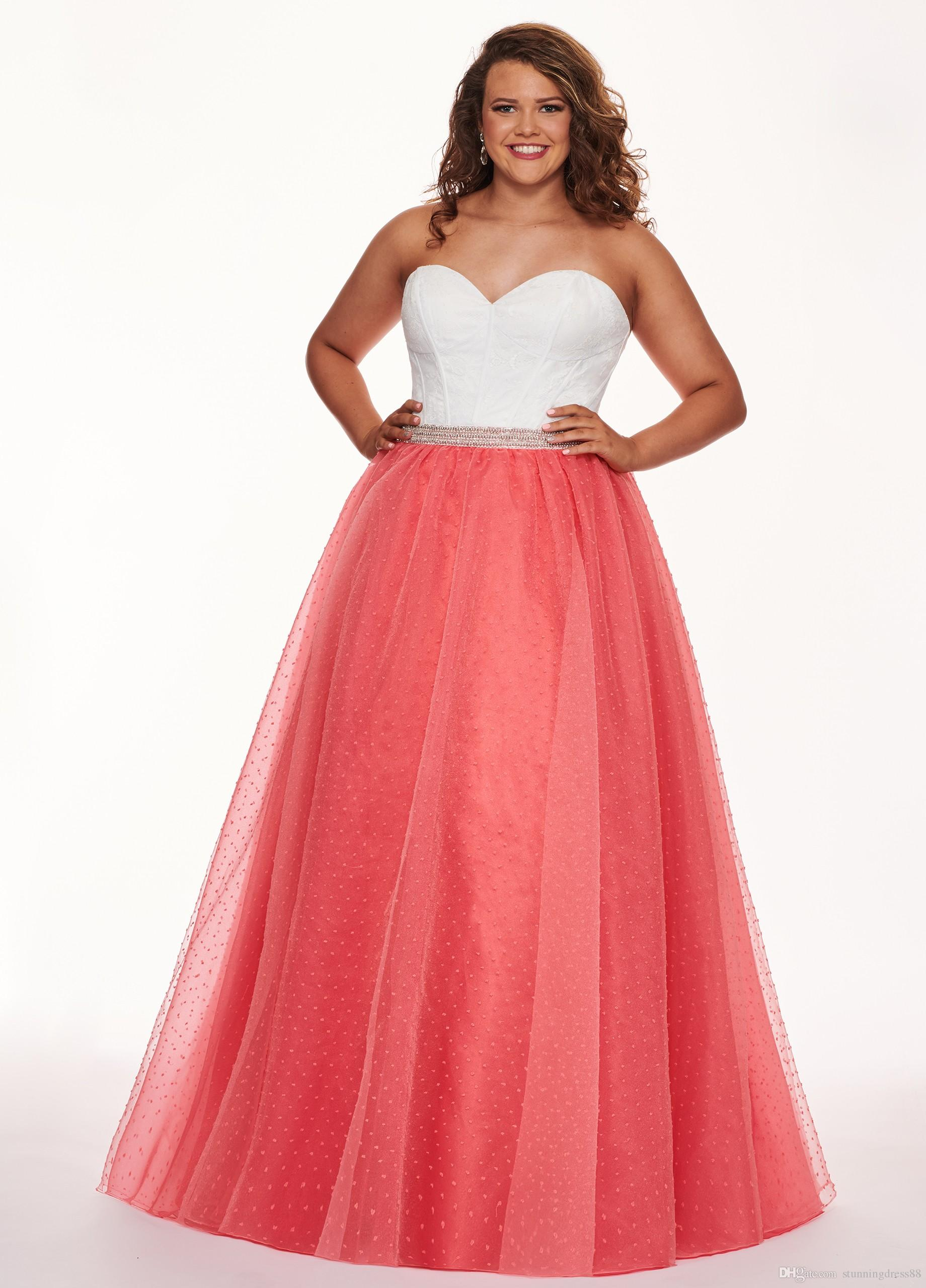 Romantic Coral Evening Prom Dress Plus Size White Lace Sweetheart Backless  Cheap Long Formal Gowns 2019 Special Occasion Dress Cheap Pink Evening ...