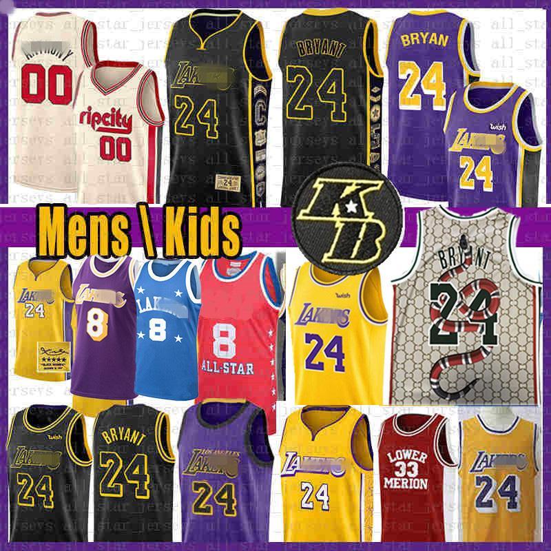 Carmelo Anthony 00 8 24 33 jerseys del baloncesto Lebron James 23 Blazer Jersey Jersey BRYANT NCAA