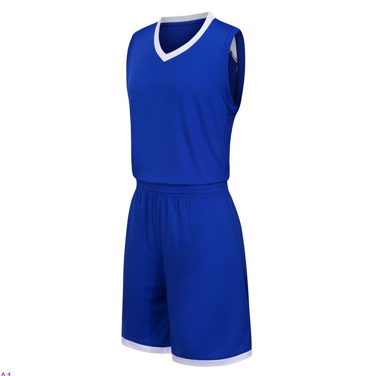 2019 Yeni Boş Basketbol formaları baskılı logosu adam boyut S-XXL ucuz fiyat hızlı kaliteli Mavi A001n nakliye