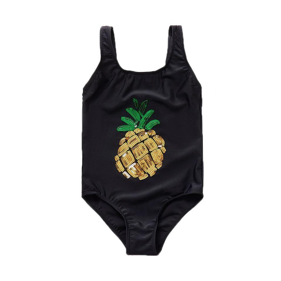 2020 Kinder One Piece Suits Kinder Baby-Badebekleidung Karikatur-Ananas-Druck-Badeanzug-Bikini-Badeanzug-Schwimmen Bademode