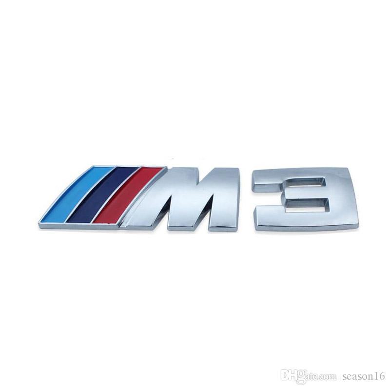 20PCS موتورسبورت المعادن الشعار ملصق سيارة خلفي جذع شعار الشواية شارة بي ام دبليو E46 E30 E34 م E36 E39 E53 E60 E90 F10 F30 M3 M5 M6