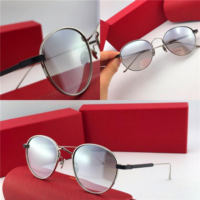 Оптово-Новые модные солнцезащитные очки 0009S ретро круглая золотая рамка с трендом в авангардном стиле защитные очки высшего качества с коробкой