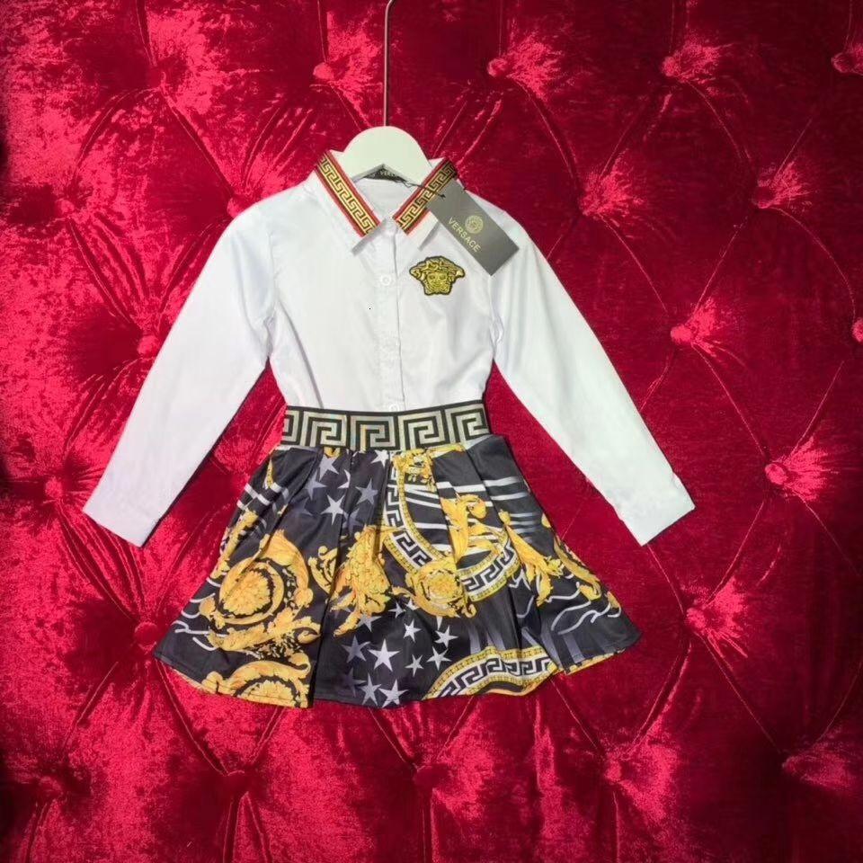 Filles manches longues en coton pour enfants Les enfants Outfit Automne Automne Enfants Princesse Filles Enfants Set Vêtements pour bébé 011112