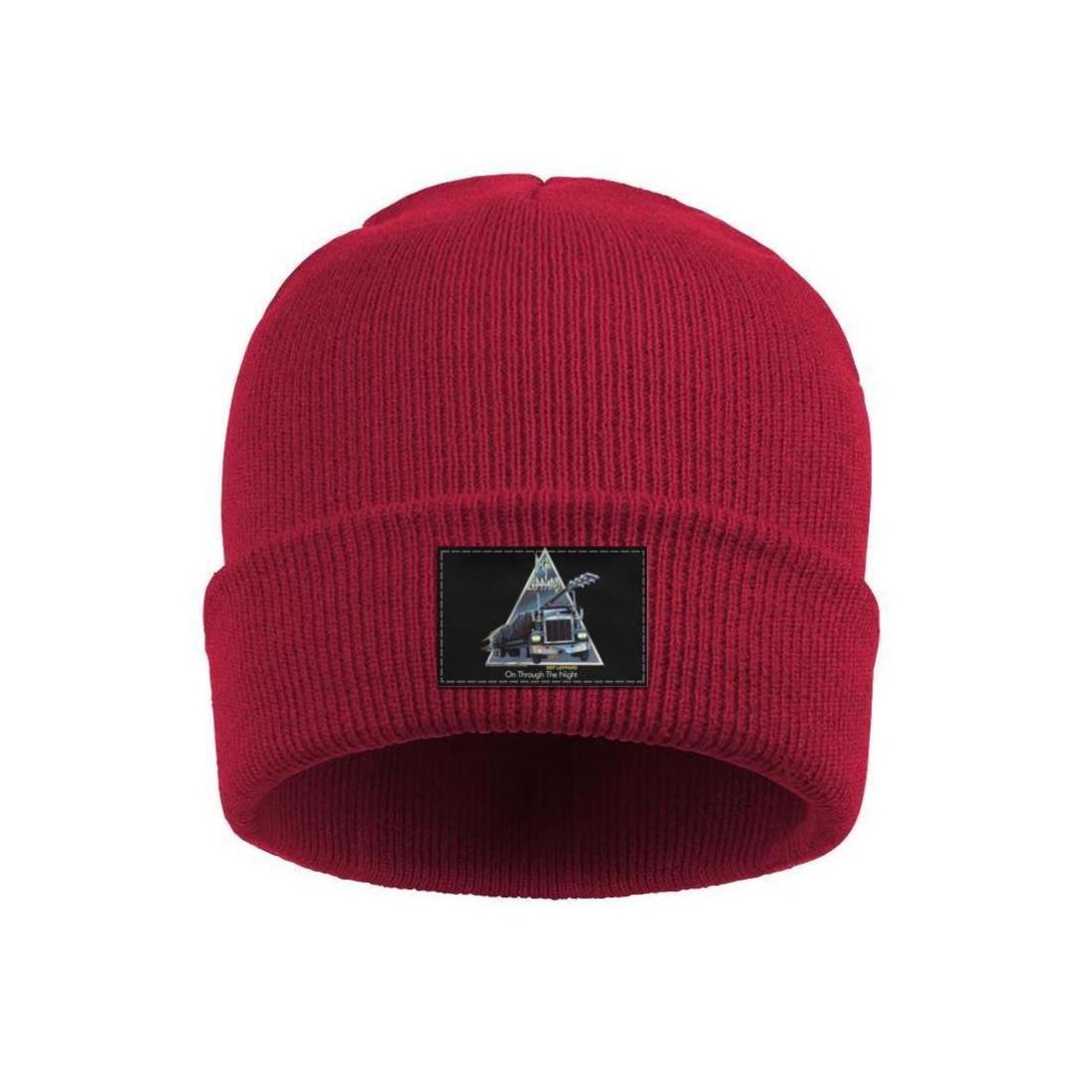 Mode Def Leppard-T-Shirt auf die ganze Nacht hindurch, lässige Mütze Schädel Mützen Straßen-Tanzen HYSTERIA 30TH ANNIVERSARY EDITIONS Rockband 4