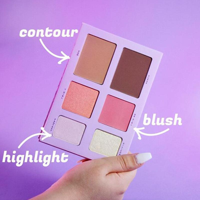 Sıcak Markalı Yeni Kozmetik 24 renk 6 renklerin göz farı paleti mat metalik ve saten Sıkıştırılmış toz palet hediye