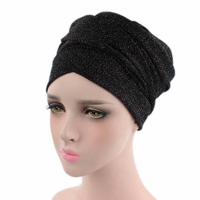 Moslemische Frauen Hijabs Bördeln Hüte Frauen langer Schal Hut Inner Hijabs Indien Hut Turban-Kopf-Kappe Dame Haarschmuck