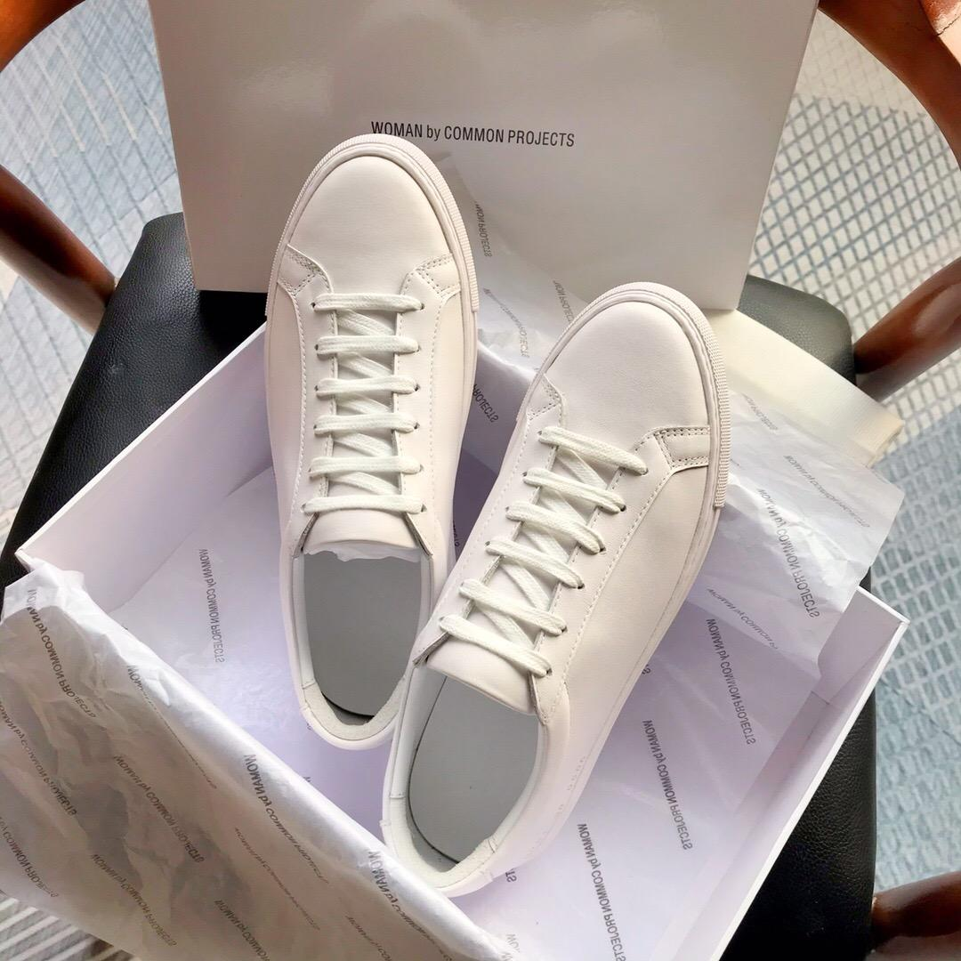2020 New White Achille Rose bas chausse Sneakers en cuir véritable Chaussures Casual Homme Femme Flats A4 Chaussure