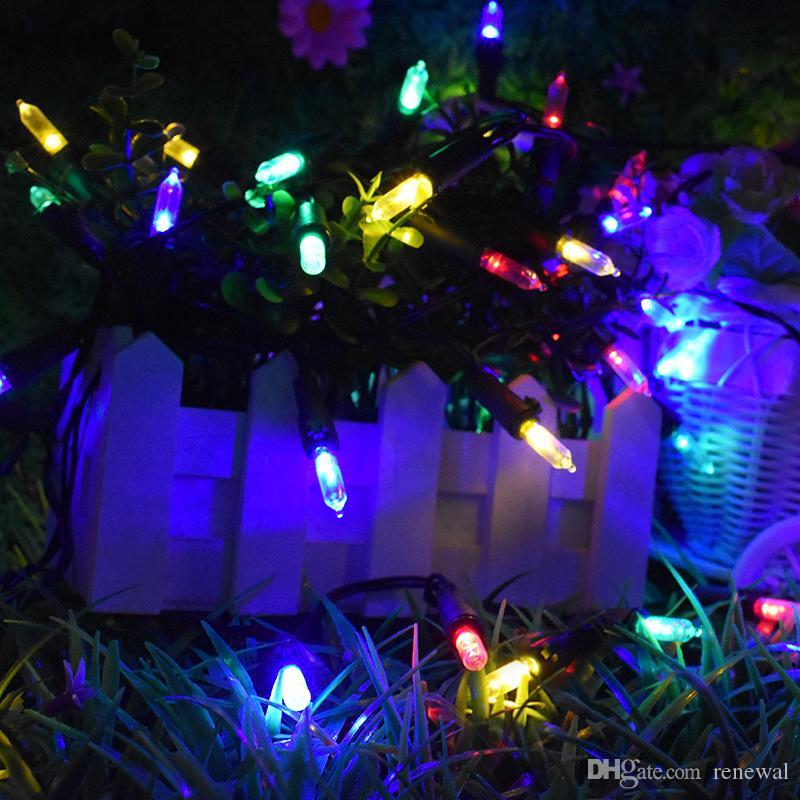 أضواء سلسلة عيد الميلاد الشمسية 50 LED 7M مع 2 وسائط إضاءة مصباح لمسار البيت في الهواء الطلق داخلي الباحة شجرة عيد الميلاد حزب المعرض