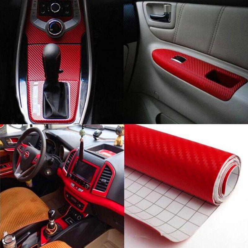 127CM * 30CM ملصق سيارة من ألياف الكربون 3D الفينيل فيلم للماء التفاف السيارة ملصق الشارات للدراجات النارية للسيارات سيارة التصميم السيارات