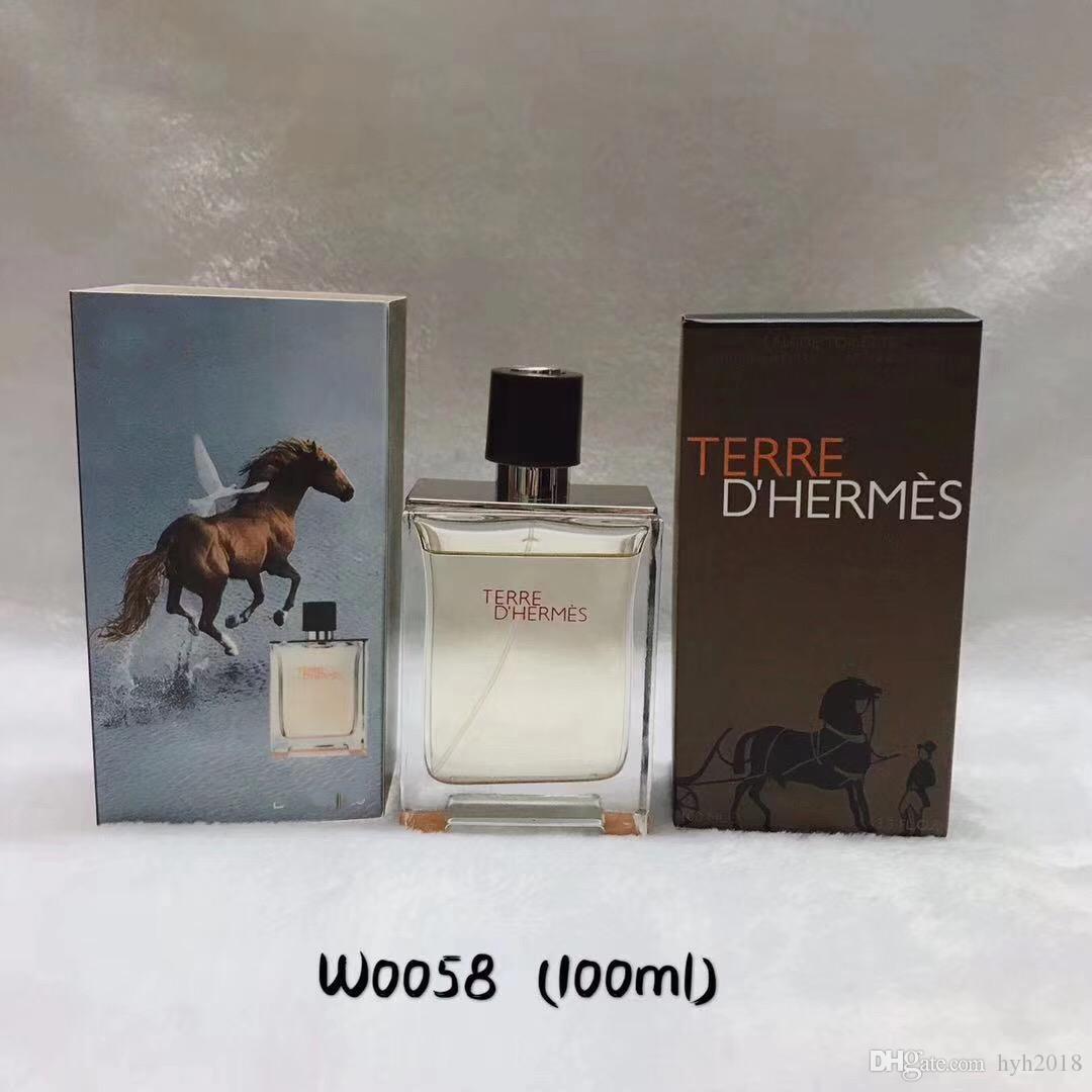 Adam Terre Herme Marka HERME Parfüm Parfüm kopyası için ücretsiz nakliye Klasik Parfüm Parfüm 100ml Üst kalite Sprey