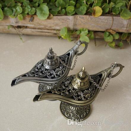 Classic Fairy Tale Aladdins Magic Lamp Tea Pot Genie Lamps European Style For Photography Prop Home Decoration