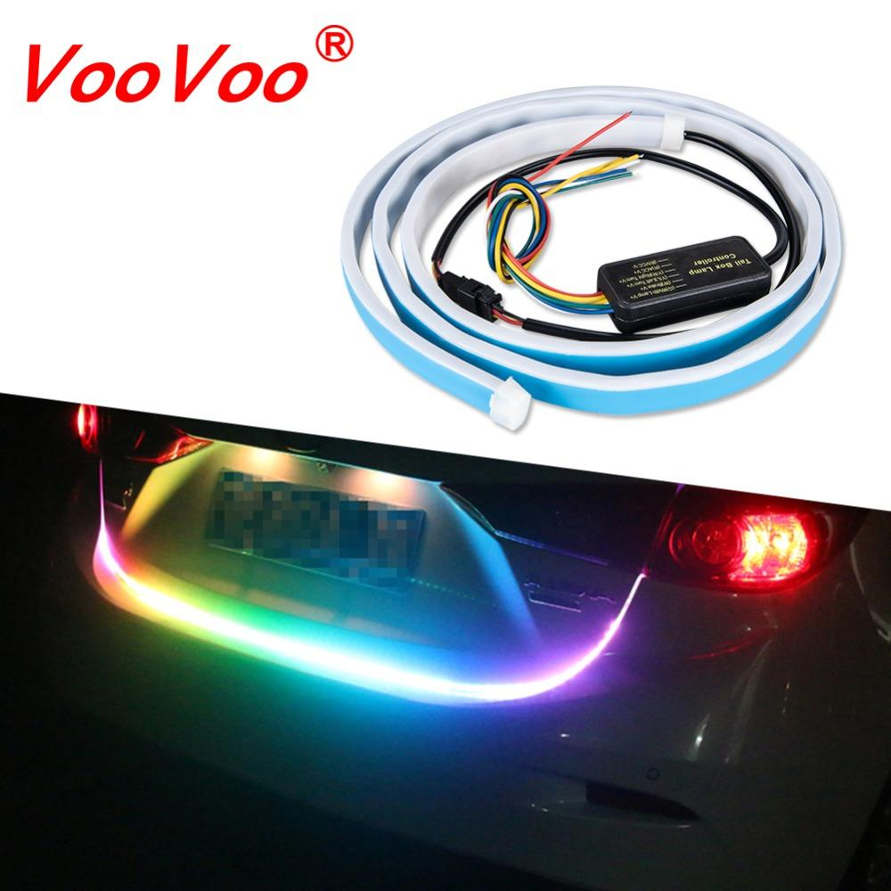 1.2M Car Trunk LED Strip Lights Rear Turn Signal Reverse Brake Indicator 120CM