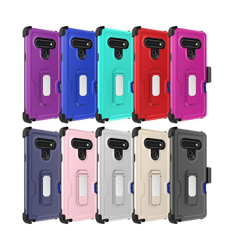 Per Samsung A21 A11 A01 Hybrid clip Armatura custodia universale della cassa del telefono per il LG Stylo 6 K51 Heavy Duty Cavalletto della calotta di protezione D1