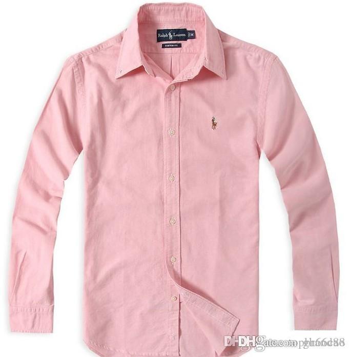 Medusa automne 1 et hiver nouveaux hommes chemise en coton à manches longues couleur unie casual hommes POLO shirt mode Oxford shirt social son