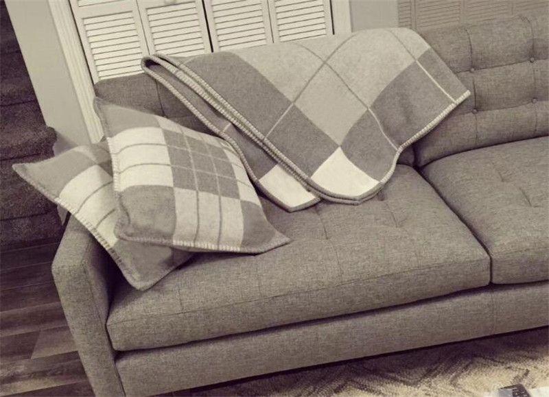 Новые поступления дизайн бренда плед бросок подушки домашний диван бросок подушки шерсть кашемир h наволочки удобные и легкие диванные подушки.