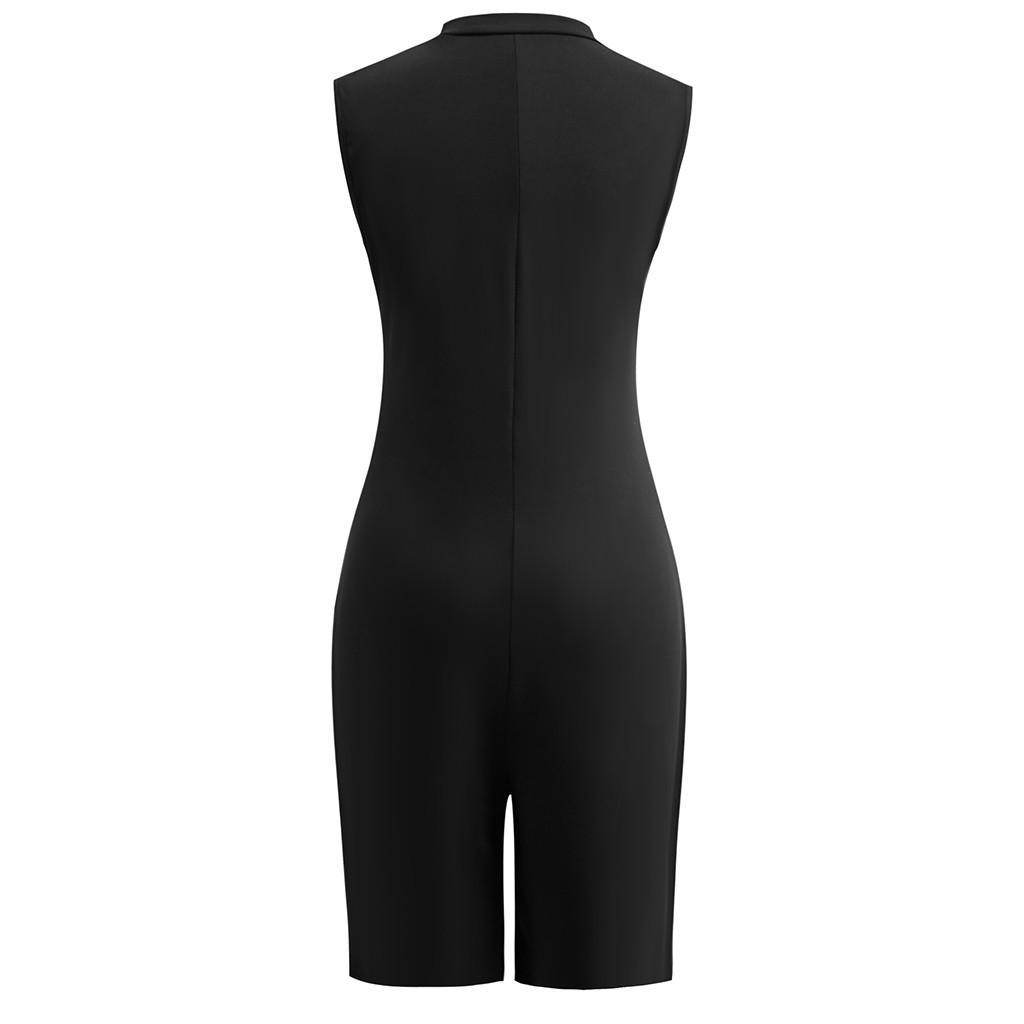 Sommer Frauen Moderne Dame tiefer V-Ausschnitt Frauen-Dame Schulterfrei Solid Color Slim Fit Körper Sexy Bodycon Bodysuits