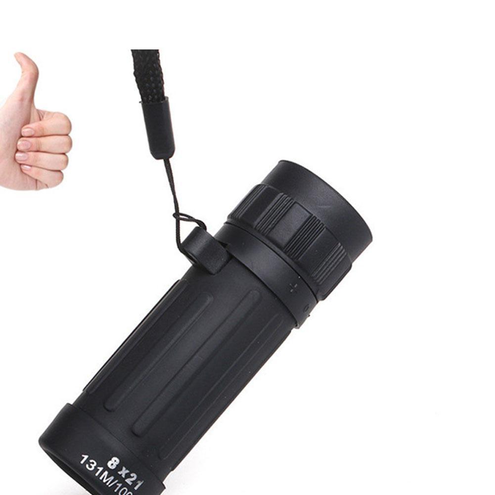 Télescope monoculaire HobbyLane 8x21 Camping Télescope de chasse Sports Handy Scope Compact Jumelles monoculaires Portable Noir