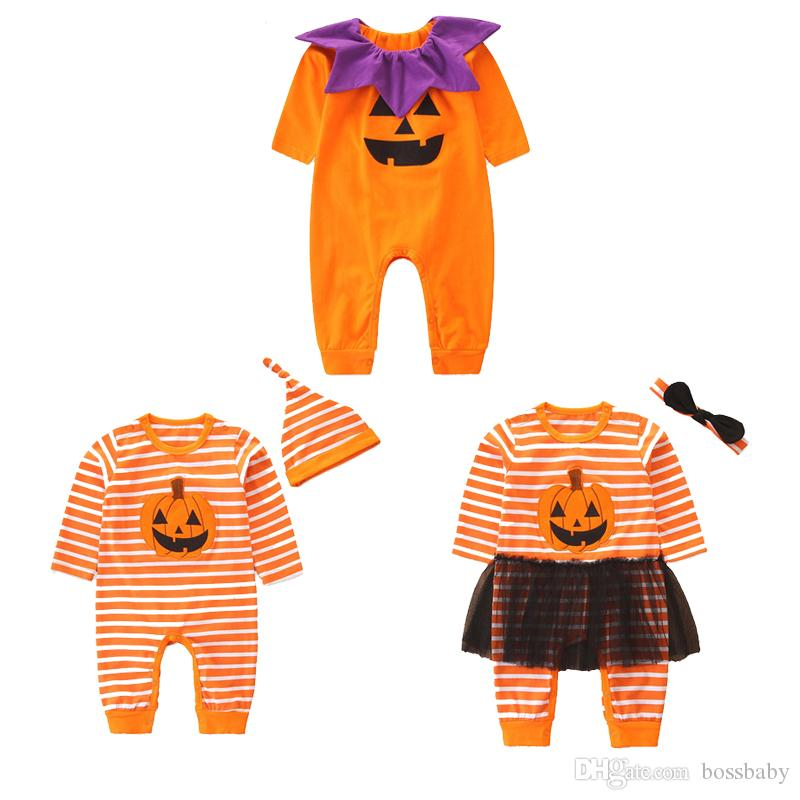 Halloween Little Devil Jumpsuit Infant Baby Boy Girl Long Sleeve Romper Clothes