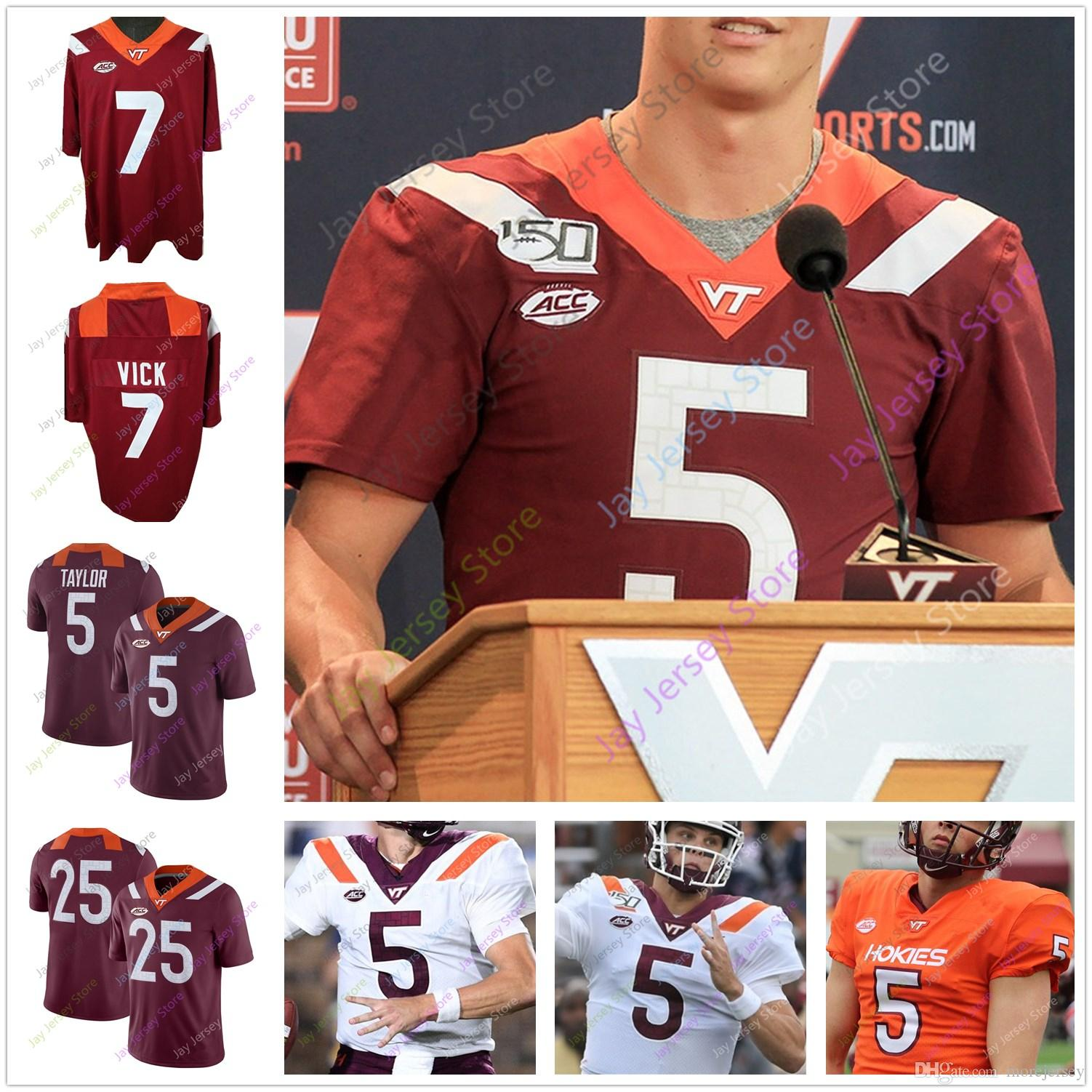 2019 2020 Virginia Tech Football Jersey College 4 Quincy Patterson II 22 Terrell Edmunds49 Tremaine Edmunds 17 Kyle Fuller 5 Tyrod Taylor