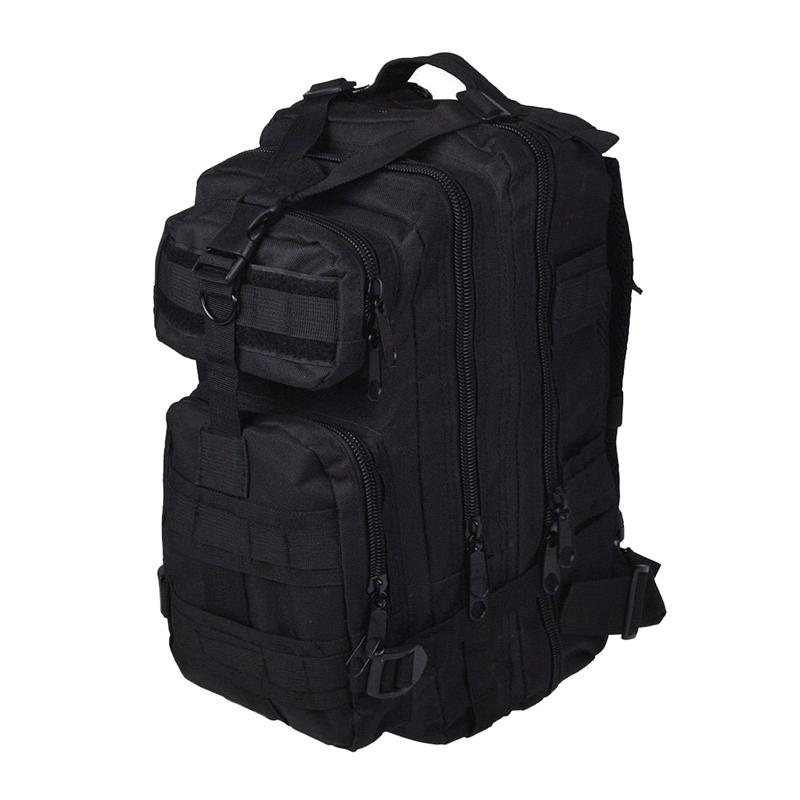 Men Outdoor backpack Military Backpack Camping Hiking Hunting Trekking Backpack (Black)-ABLD
