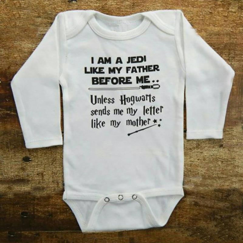 Baby Infant Newborn Long Sleeve Onesie Bodysuit Harry's Magic Letter print Cotton Baby boy Girl clothes 2019 Summer Cheap Wholesale