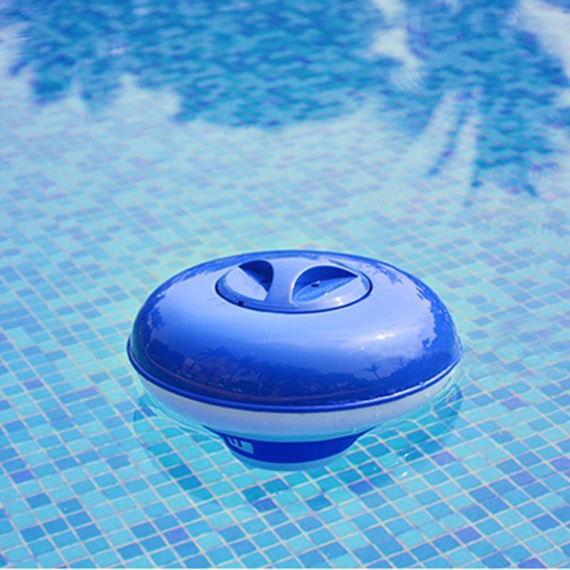 d3 4 piezas Accesorios Equipo de la caja de herramienta de la tableta dispensador de lujo grande azul y blanco flotando piscina de cloro dispensador