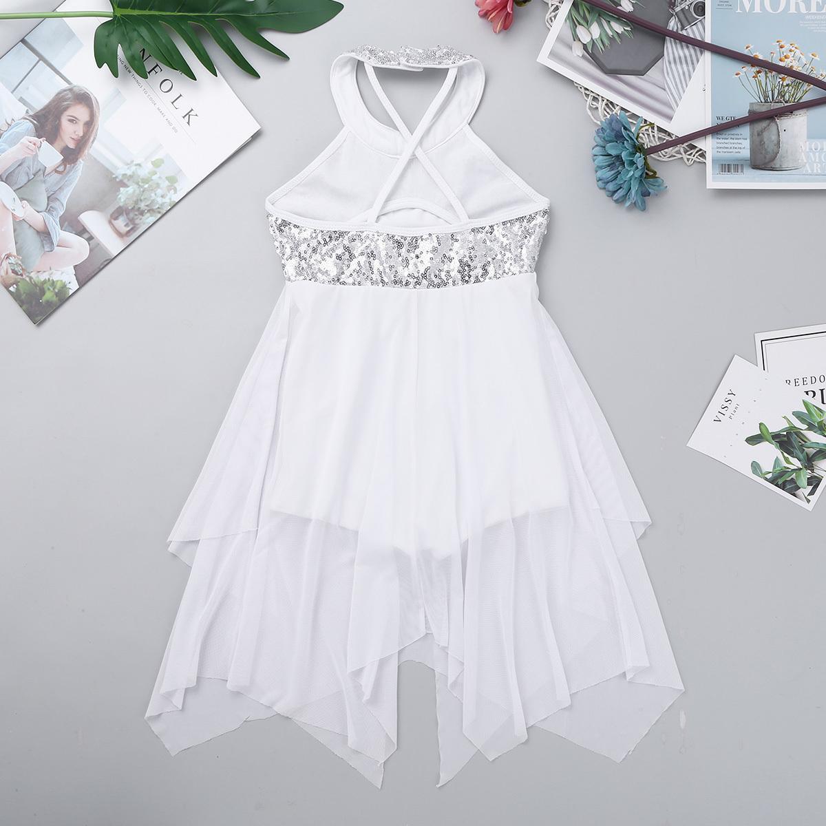 iiniim Girl 2 Pieces Ballet Dress Side Waist Open Drap Skirt Set Child Leotard Dance Dress Lyrical Modern Contemporary Costumes