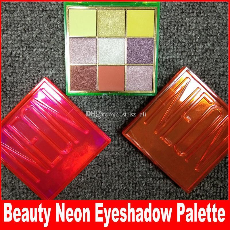 Beauty Eye Makeup PINK ORANGE GREEN Eyeshadow Palette 9 Colors Shimmer Matte Neon Eye Shadow 3 Styles