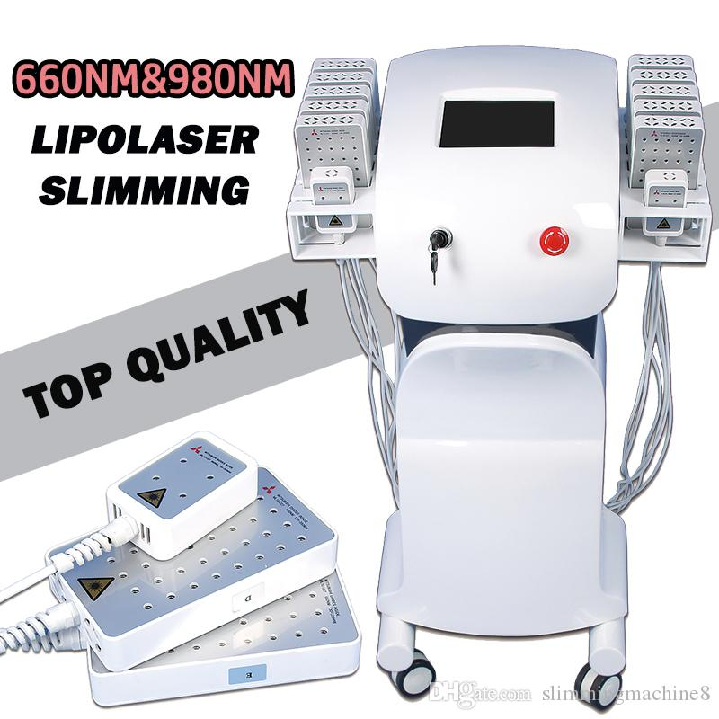 El mejor láser láser láser máquina láser lipo reduce la celulitis diodo lipo láser precio 660nm980nm dual longitud de onda mitsubishi diodos
