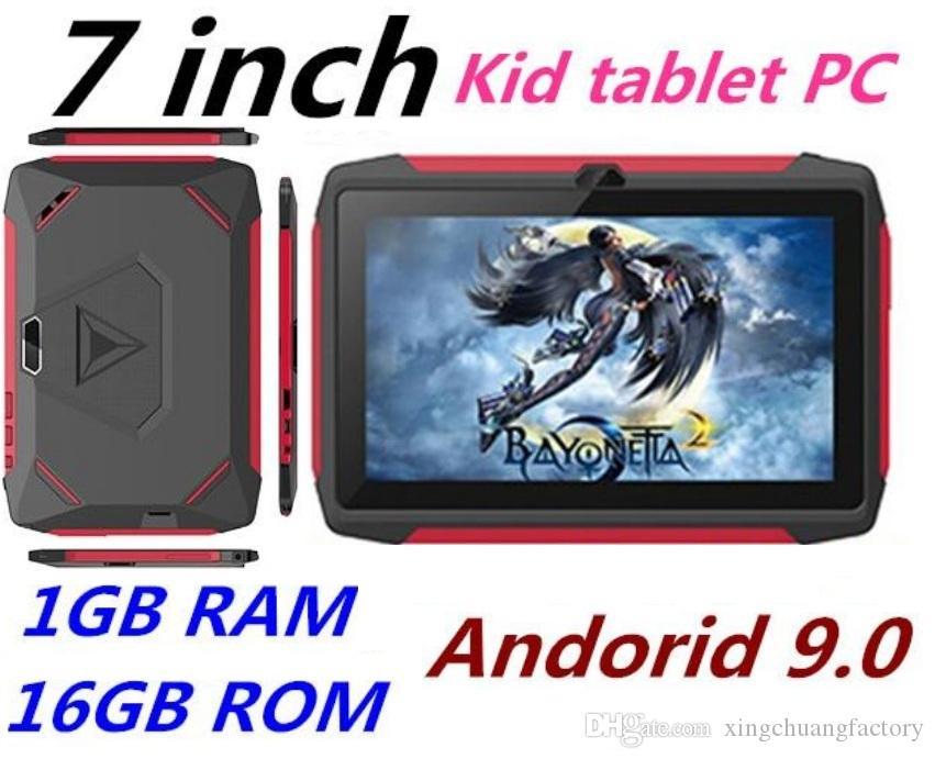 블루투스 와이파이 도매와 최신 아이 태블릿 PC Q98 쿼드 코어 7 인치 1024 * 600 HD 스크린 안드로이드 9.0 AllWinner A50 실제 1기가바이트 RAM 16 기가 바이트 Q8