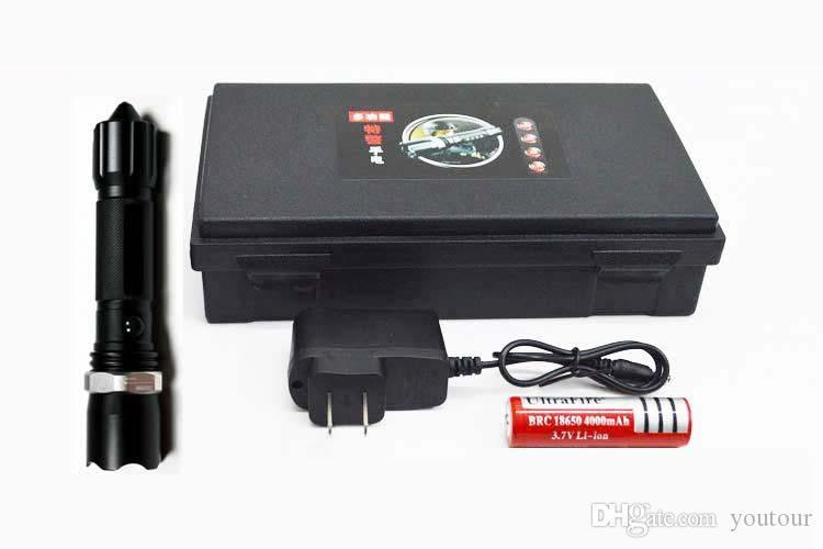 Taktische Taschenlampe Hand hält hohe Leistung T6 Radfahren Jagdausrüstung Minizoomable Fackel taktischen 500M Taschenlampe 3000lumens führte zu befreien