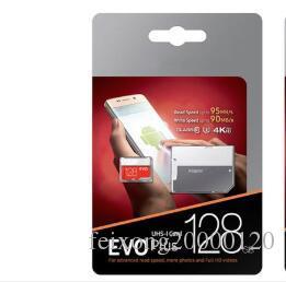الجديد EVO بالإضافة إلى 256GB 128GB 64GB 32GB بطاقة الذاكرة UHS-I U3 عبر بطاقة TF فلاش مع محول حزمة البيع بالتجزئة