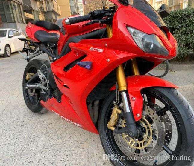 승리 데이토나 675R 675 2006 2007 2008 06 07 08 사용자 정의 레드 라이트에 대한 새로운 ABS 사출 금형 오토바이 바람막이를 키트 맞춤