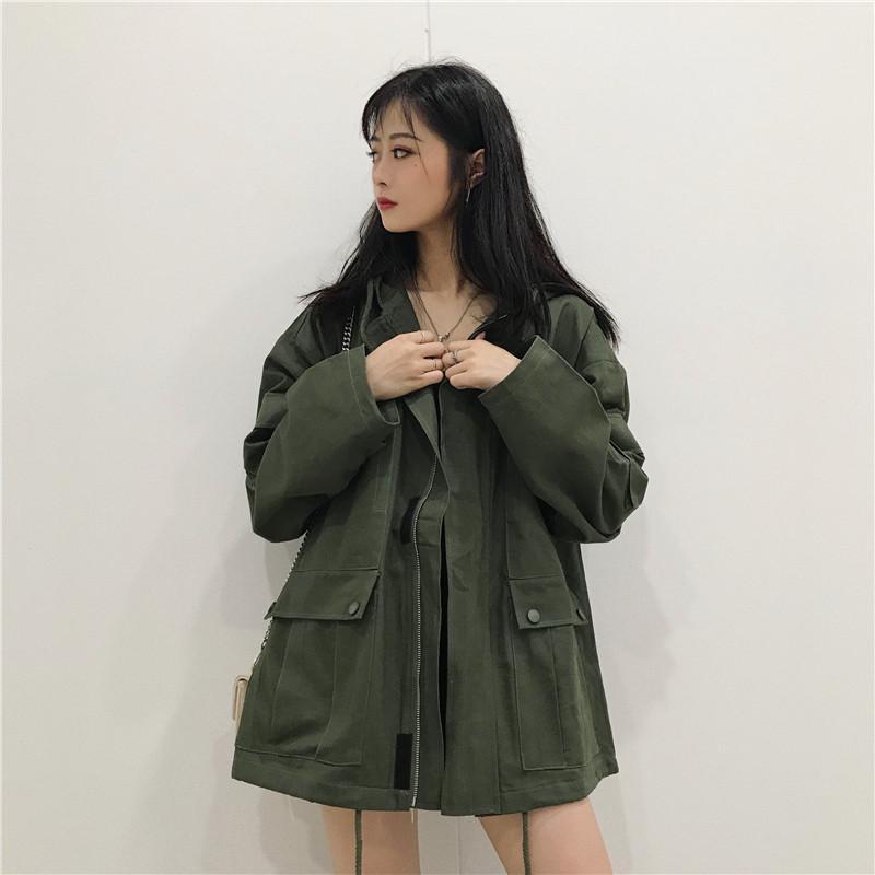 2019 neue Ankunfts-mit Kapuze beiläufiger Frauen Jacke Marke Modedesigner toppen Qualitäts-Baumwolle Belend Frauen Jackets.B1