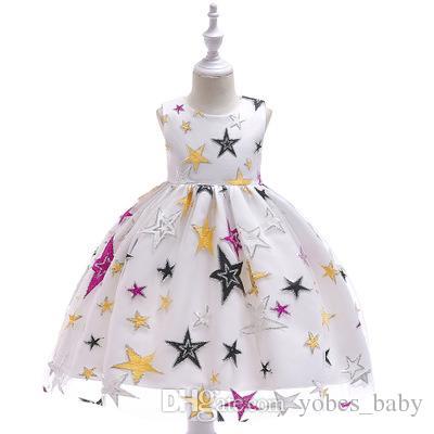 girls boutique clothing kids designer clothes baby kids gown Girls lace tube top princess dress children 2019 children fluffy dressegarments
