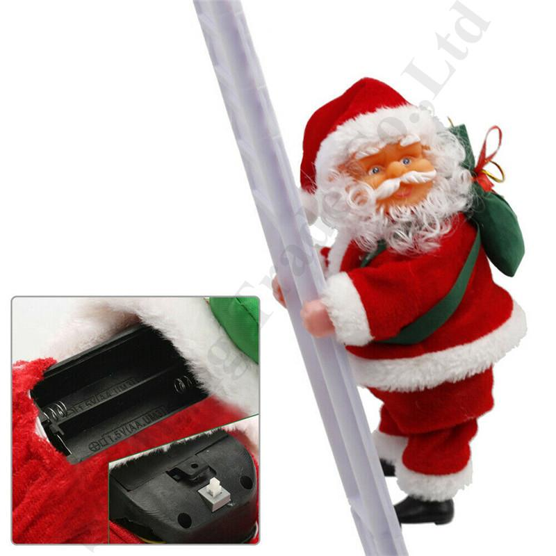 Santa Claus Musical Climbing Stairs Christma Tree Decoration Large Size