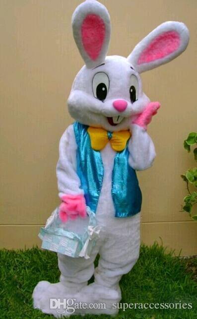 2018 Yüksek kaliteli PROFESYONEL PASKALYA BUNNY maskot kostüm Bugs Tavşan Hare Yetişkin Fantezi Elbise Karikatür Suit