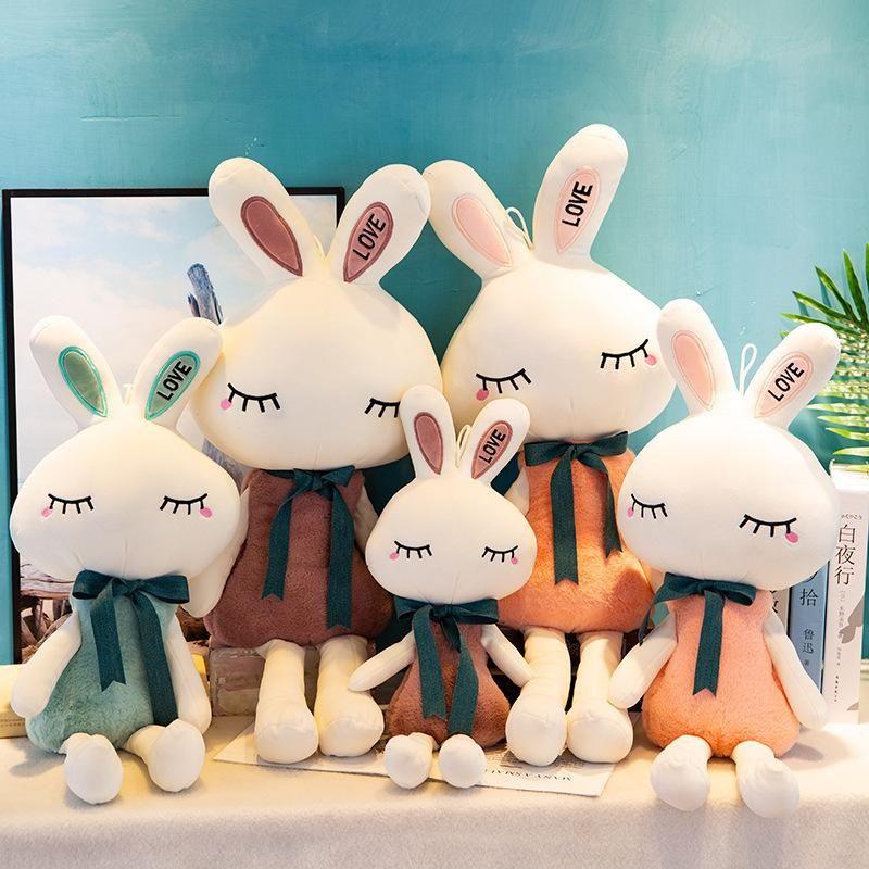 Crianças Toy Presente New Love Coelho Plush Toy Bonito coelho branco Doll Doll S