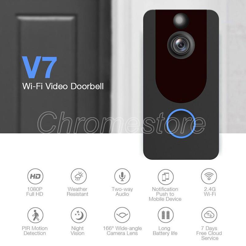 Großhandel EKEN 1080P Türklingel V7 Visuelle Gegensprechanlage Kamera Cloud  Storage Fernbedienung Wireless Wifi Echtzeittelefon Video Nachtsicht PIR ...