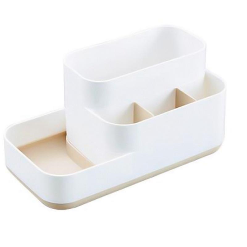 Maquillage plastique Organisateur salle de bains Boîte de rangement bijoux Boîte de rangement PC de bureau Boîte de rangement Mêle Container