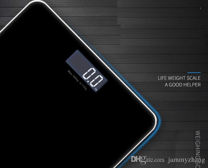 Bagno superficie del pavimento digitale corpo scala in vetro temperato bilance elettroniche LED Display Tenere Fit corpo che pesa la scala