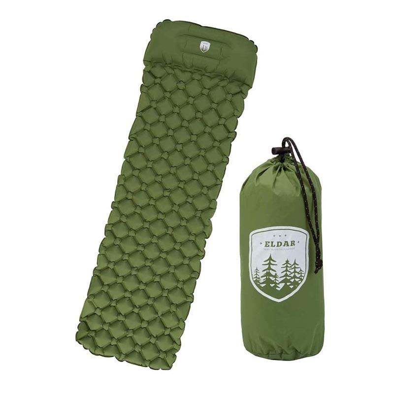 Outdoor almofada de dormir Camping para a mochila - Pneumática Lightweight Camping Colchão com travesseiro e saco de viagem para