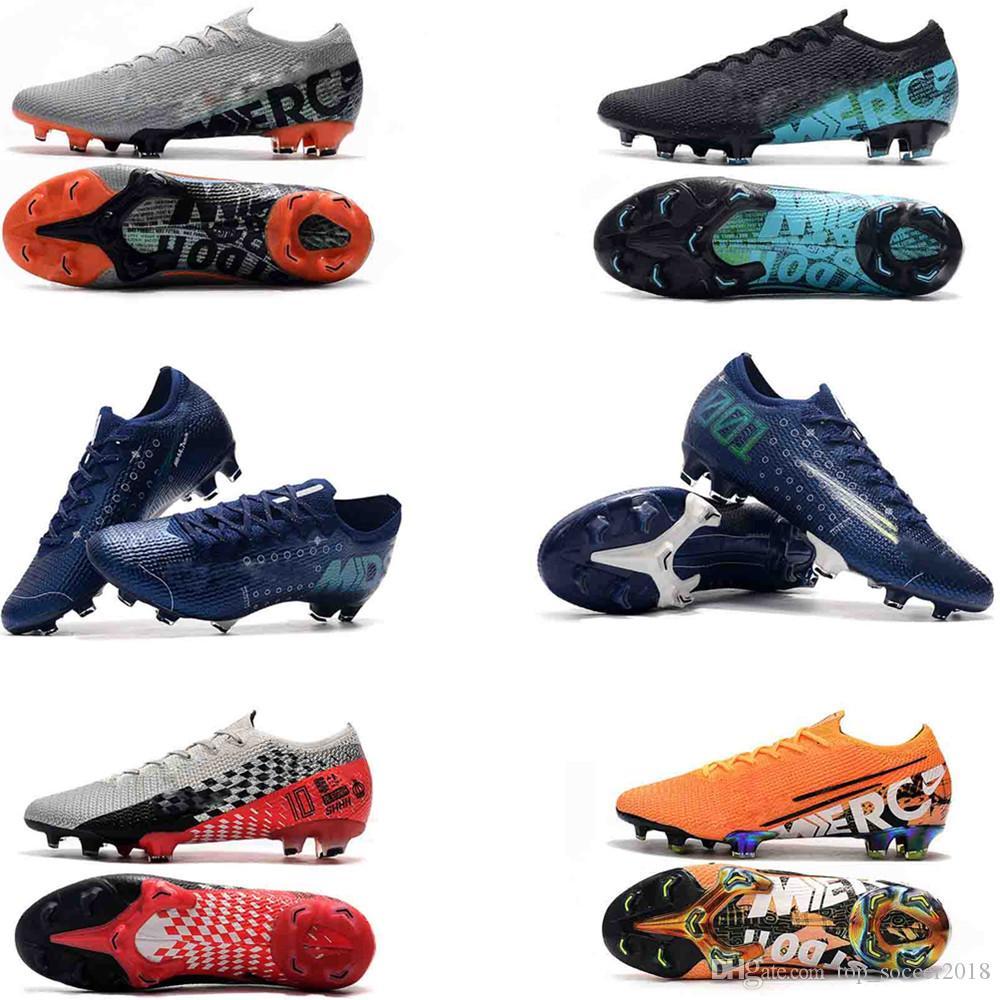 2019 erkek futbol ayakkabıları öfke CR7 Mercurial XII 13 Elite FG futbol kelepçeleri açık futbol ayakkabıları Mercurial Superfly VI 360 Elite FG