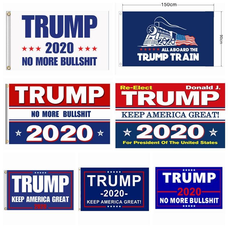 Banderas Trump 90 * 150 cm Jardín al aire libre Decorar EE. UU. Presidente Elección General Banner 2020 Bandera Trump Banderín HHA418