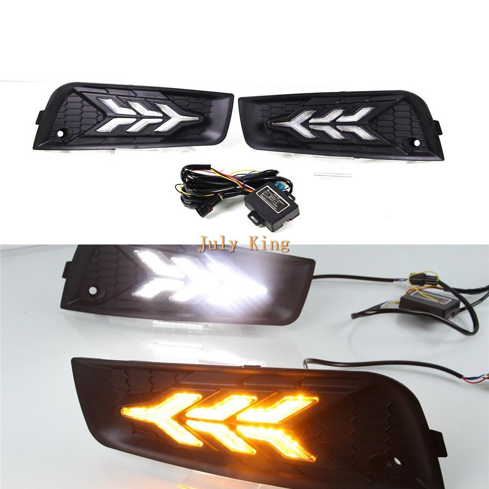 July King LED Daytime Running Lights Case for Chevrolet Cruze 2010-2013 , LED Front Bumper DRL With streamer Yellow Turn Signals Light